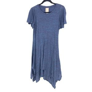 Anthropologie Dolan Asymmetrical Mini Dress Blue M